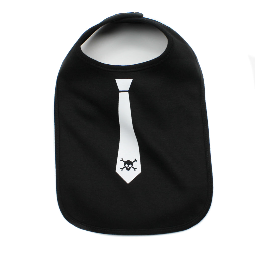 Skull Tie Newborn Baby Boy Soft Cotton Bib