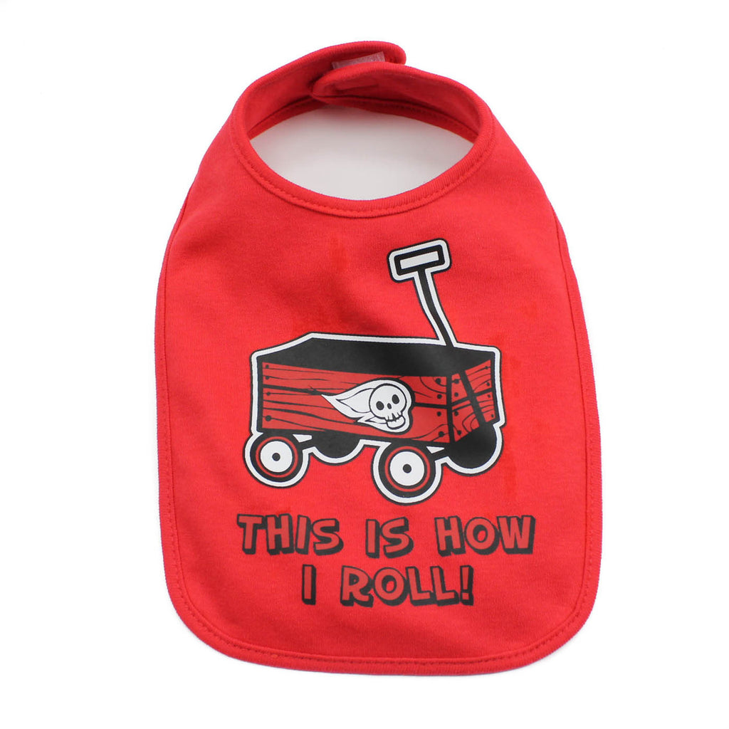 This is How I Roll Skull Unisex Baby Soft Cotton Bib
