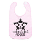Too Punk Rock For You Skull Unisex Newborn Baby Soft Cotton Bib