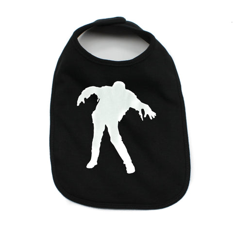 Glow in the Dark Zombie Unisex Baby Soft Cotton Bib