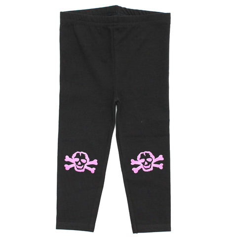 Pink Scribble Skull Infant Cotton Jersey Leggings