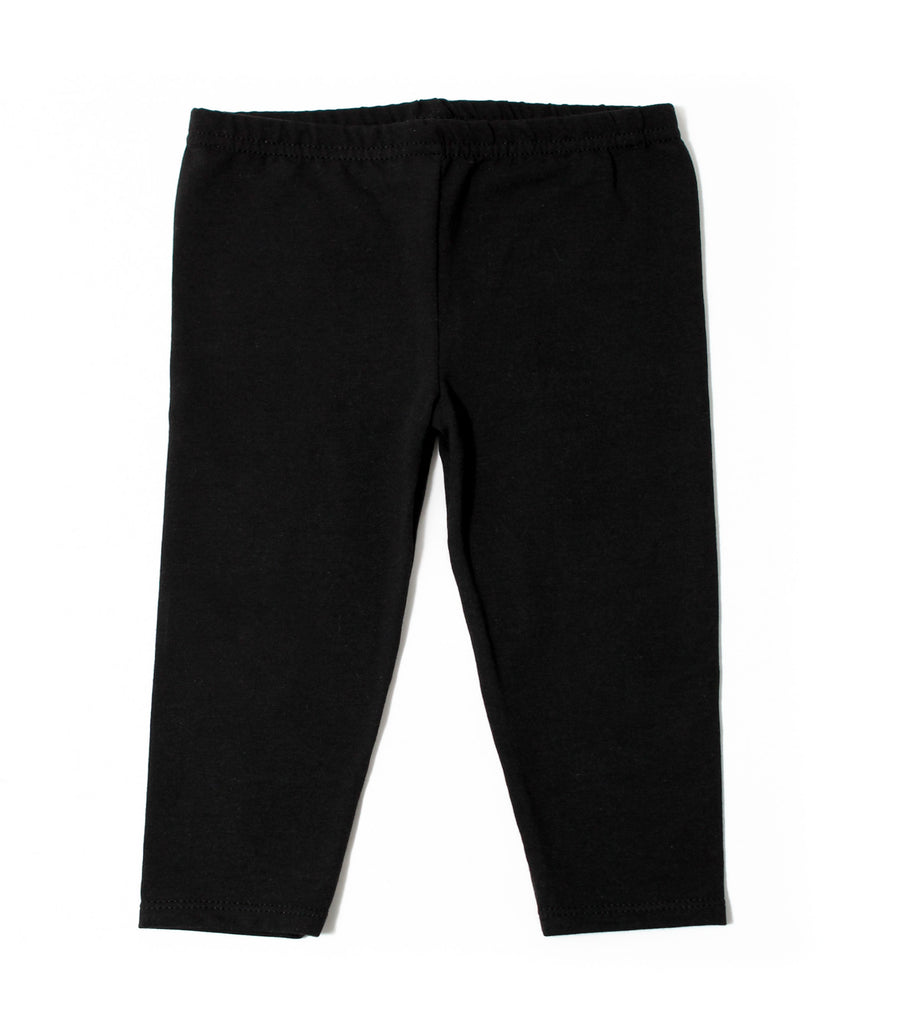 Infant Cotton Jersey Leggings, Black