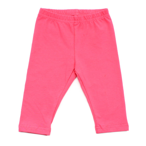 Infant Cotton Jersey Leggings, Fuchsia
