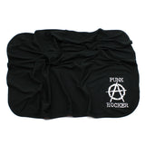 Punk Rocker Black Cotton Swaddling Receiving Blanket