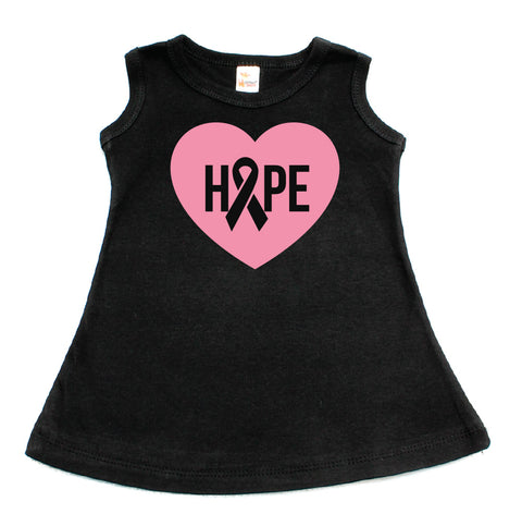 Breast Cancer Awareness Hope Heart Dress for Toddler Girl