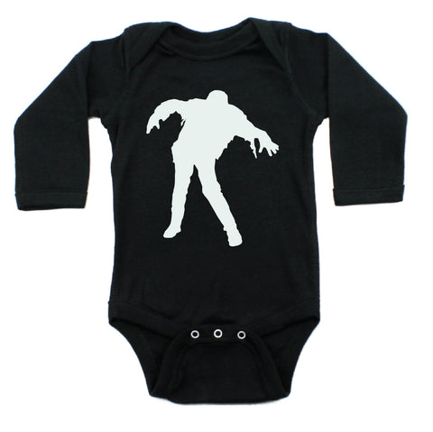 Halloween Glow in The Dark Zombie Long Sleeve Bodysuit