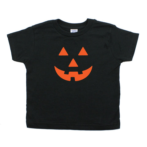 Halloween Pumpkin Face Toddler T-Shirt