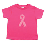 Breast Cancer Awareness Solid Pink Ribbon Toddler T-Shirt