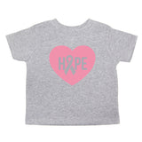Breast Cancer Awareness Hope Heart Toddler T-Shirt