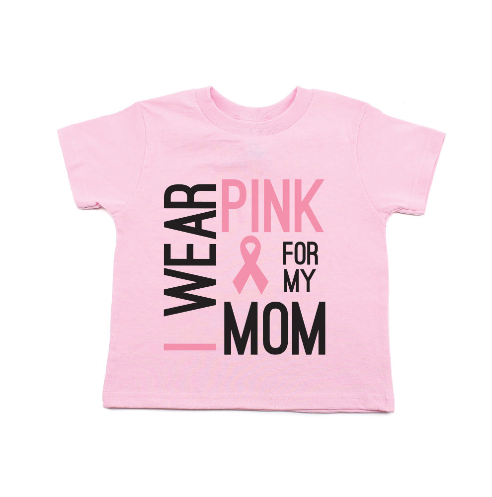 Crazy Baby Clothing Breast Cancer Awareness Wear Pink for My Mom Toddler T-Shirt