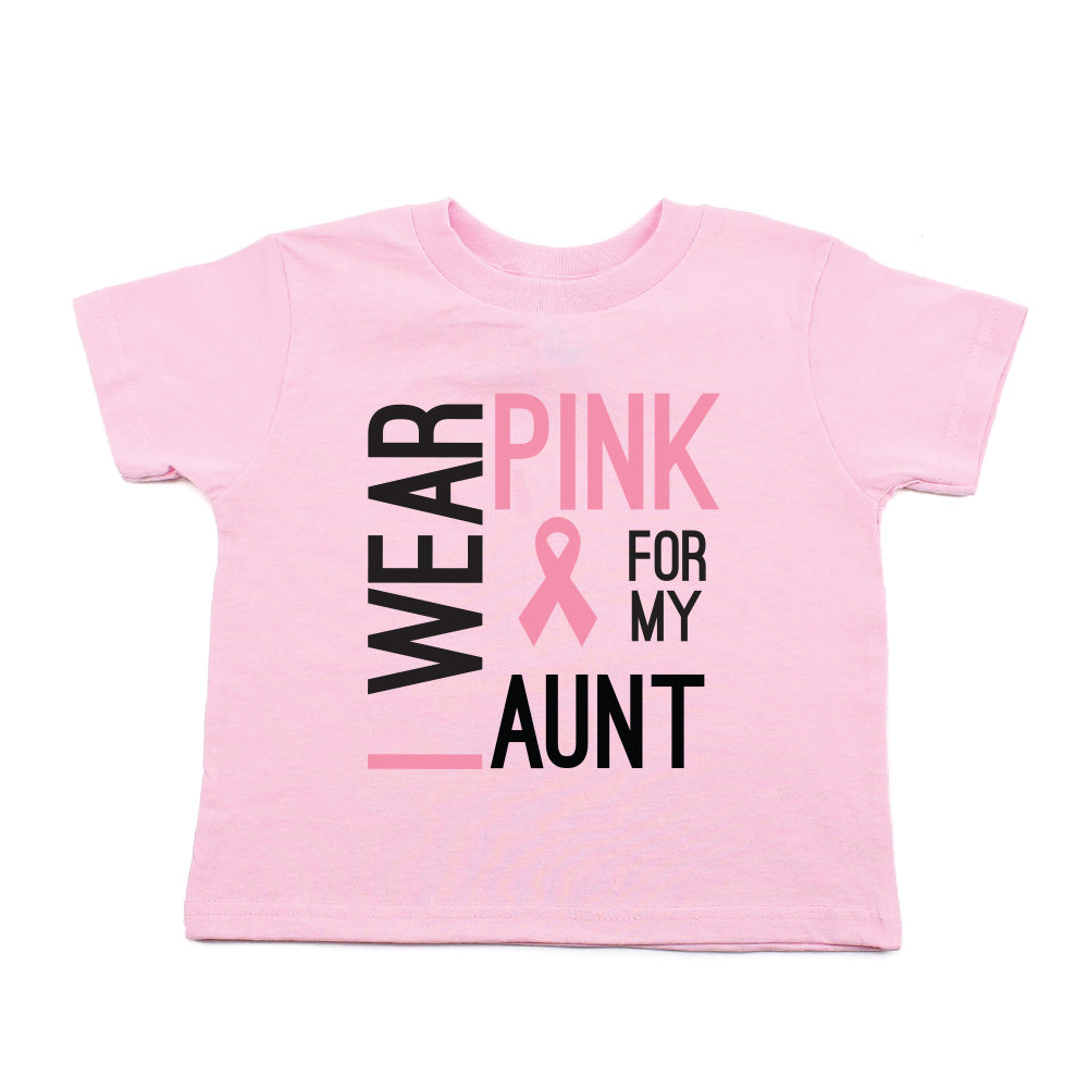 I Wear Pink For My Aunt Hoodies Pink Ribbon Breast Cancer Awareness Sweatshirts