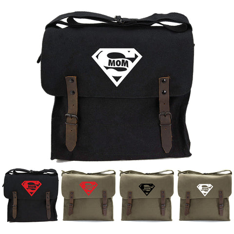 Super Mom Army Heavyweight Canvas Medic Shoulder Bag
