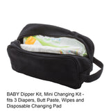 Large White Scribble Skull Canvas Mini Baby Changing Bag Travel Diapering Essentials Kit