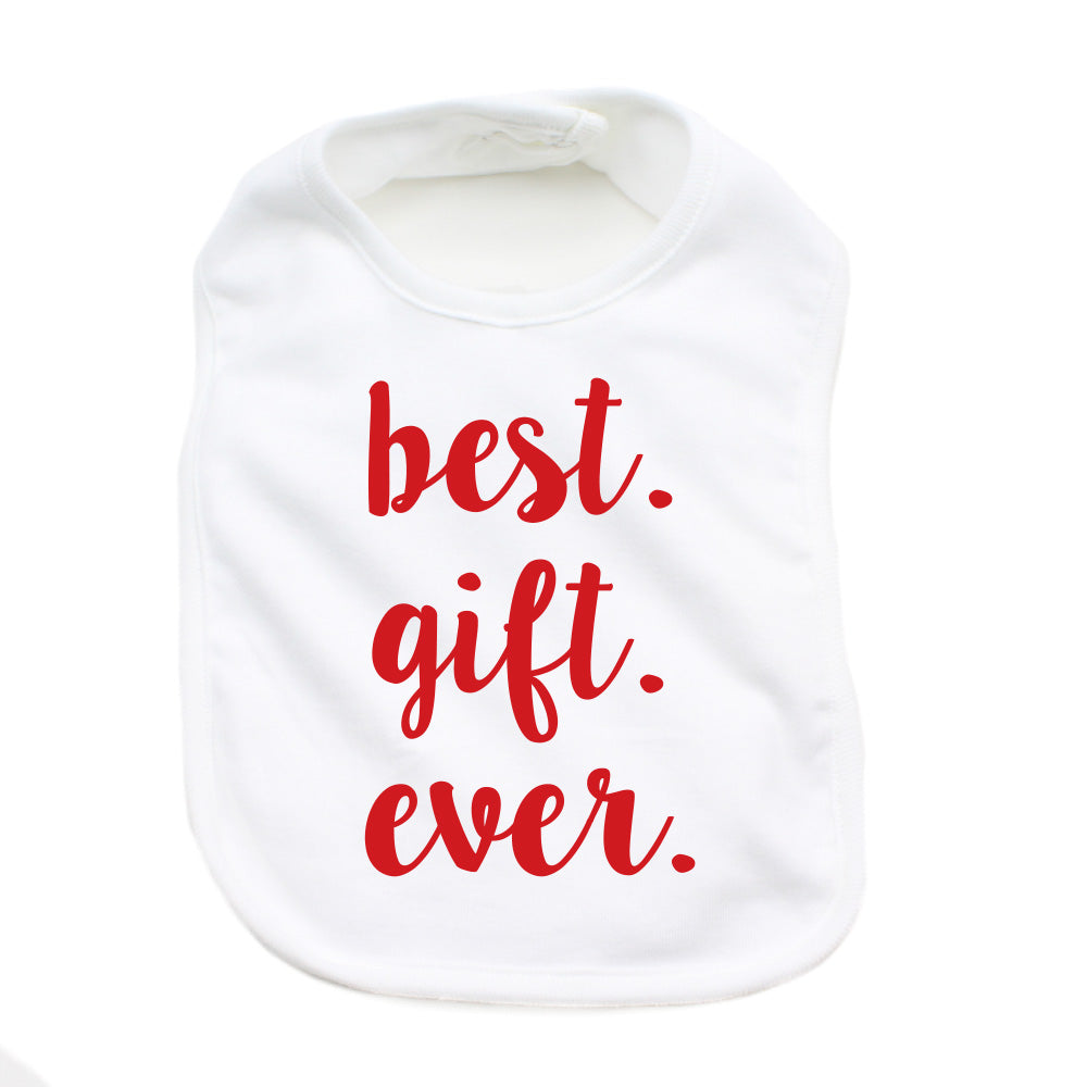 Christmas Best Gift Ever Soft Cotton Infant Bib