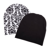 Infant Baby 100% Cotton Knit Beanie Cap Hat Patterns - Pack of 2