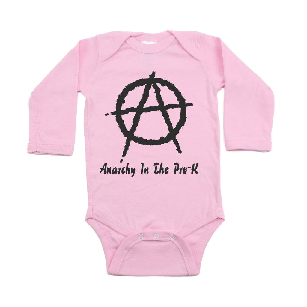 Punk Rock Anarchy In the Pre-K Long Sleeve Baby Infant Bodysuit