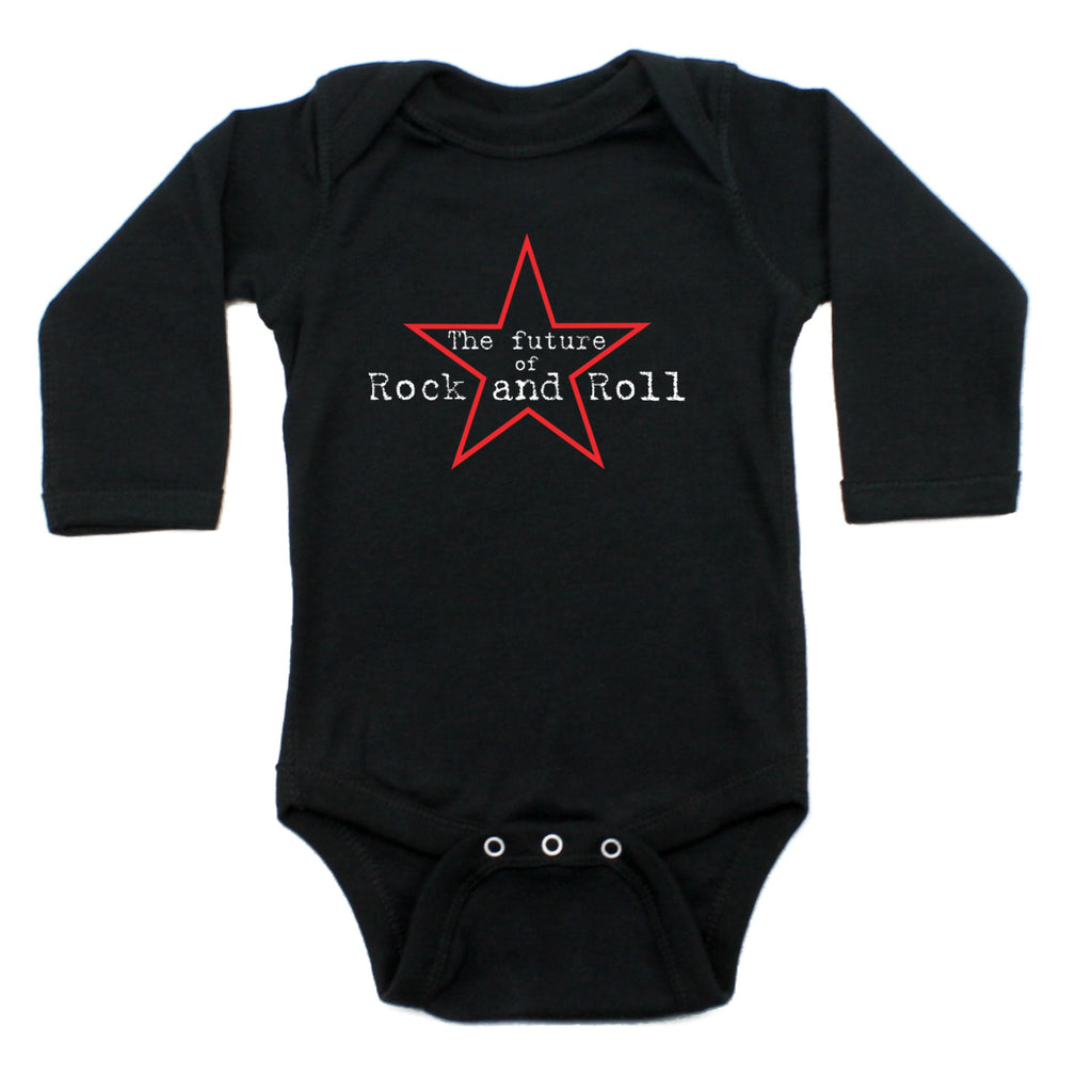 Future of Rock and Roll Rockstar Long Sleeve Baby Infant Bodysuit