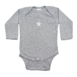 White Rockstar Nautical Star Long Sleeve Baby Infant Bodysuit
