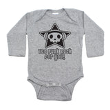 Too Punk Rock For You Skull Long Sleeve Baby Infant Bodysuit