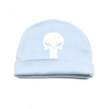 White Punisher Skull Infant Baby Beanie Cap Winter Hat One Size
