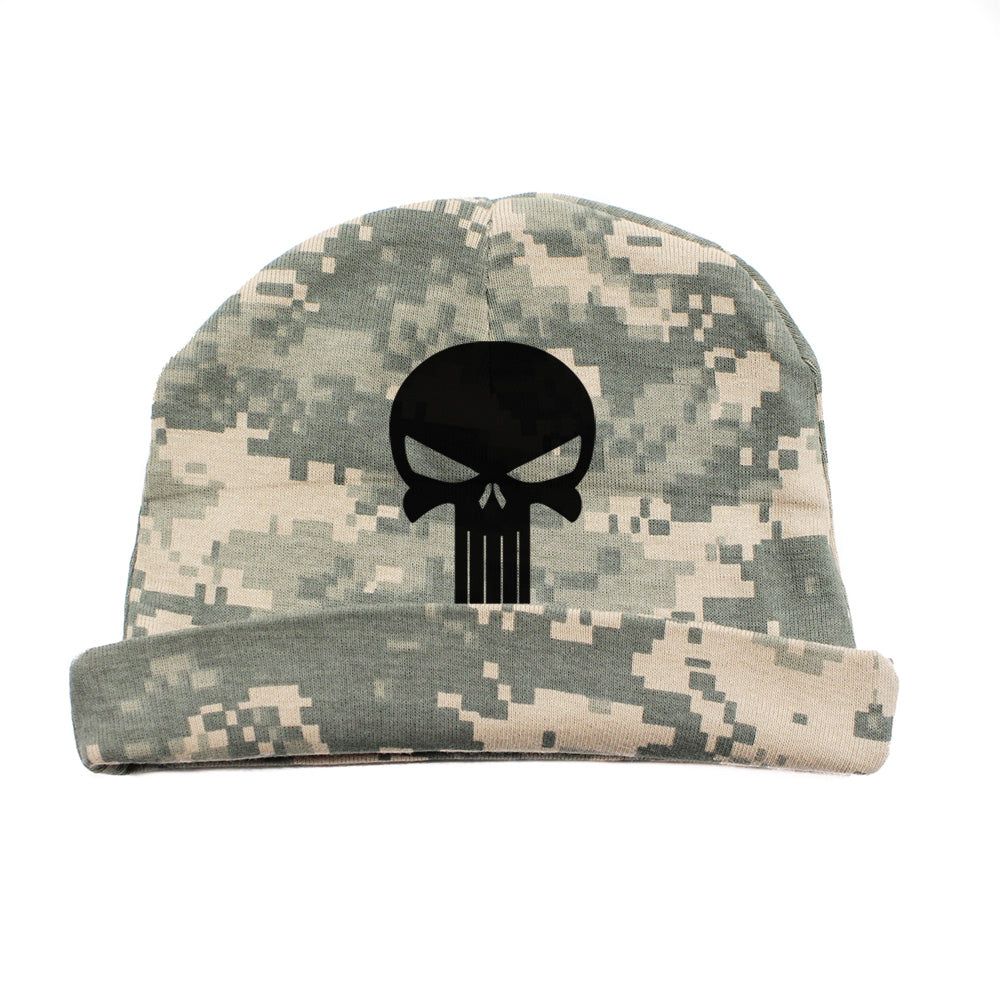 0455fe814 Black Punisher Skull Infant Baby Beanie Cap Winter Hat One Size