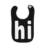 "White ""HI"" Cute Unisex Newborn Baby Soft Cotton Bib"