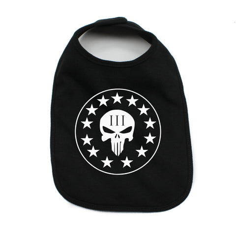Three Percenter Punisher Skull Unisex Newborn Baby Soft Cotton Bib