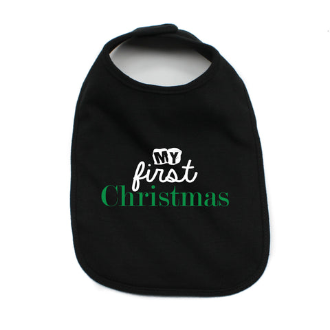 My First Christmas Cute Holiday Unisex Baby Soft Cotton Bib