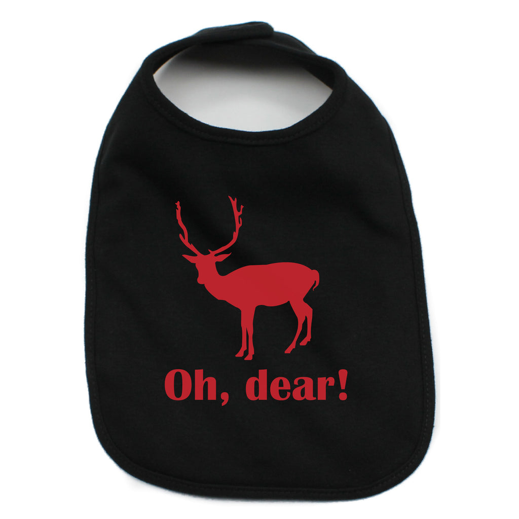 Christmas Oh Dear Infant 100% Cotton Bib