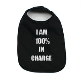 I'm 100% In Charge Unisex Newborn Baby Soft 100% Cotton Bibs