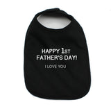 Happy 1st Father's Day Unisex Baby Bib
