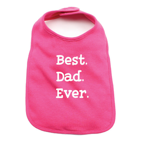 Father's Day Best Dad Ever Unisex Newborn Baby Soft 100% Cotton Bibs