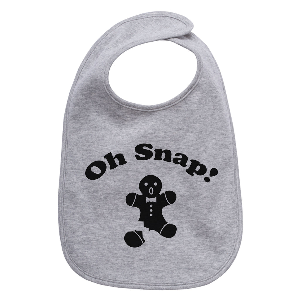 Christmas Oh Snap Gingerbread Man Infant Cotton Bib