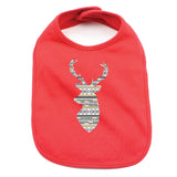 Christmas Aztec Pattern Deer Baby 100% Cotton Infant Bib