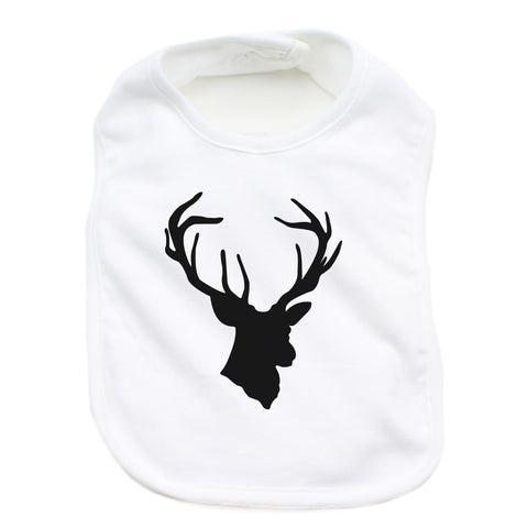 Unisex Cotton Infant Bib, Deer Head Hunting Buck