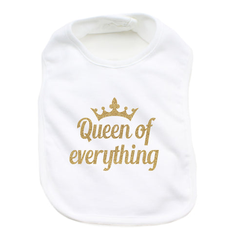 Queen of Everything 100% Cotton Unisex Baby Bib
