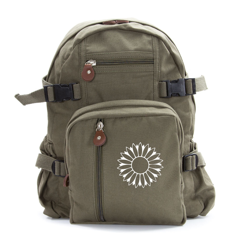Sunflower Army Sport Heavyweight Canvas Backpack Bag
