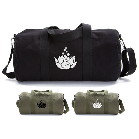 Lotus Flower Sport Heavyweight Canvas Duffel Bag