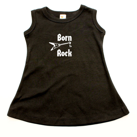 Born To Rock A-line Dress For Toddler Girls