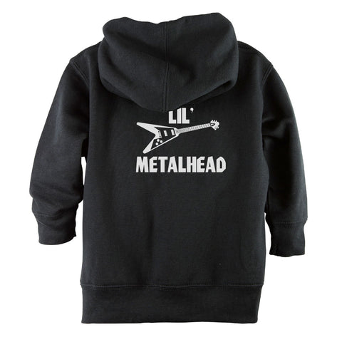 Lil' Metalhead Front Zipper Toddler Hoodie