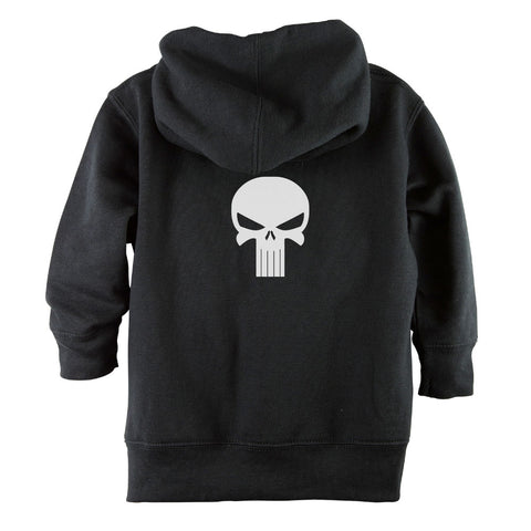 Punisher Skull Front Zipper Toddler Hoodie