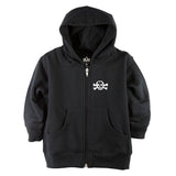 Sugar Skull Front Zipper Toddler Hoodie