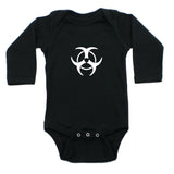 Biohazzard Warning Symbol Long Sleeve Infant Bodysuit