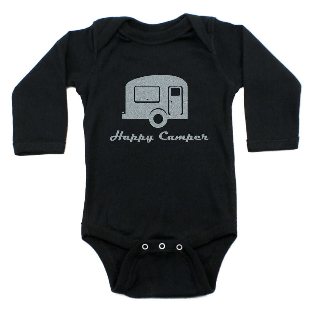 Happy Camper Long Sleeve Bodysuit