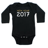 New Year 2017 Long Sleeve 100% Cotton Bodysuit