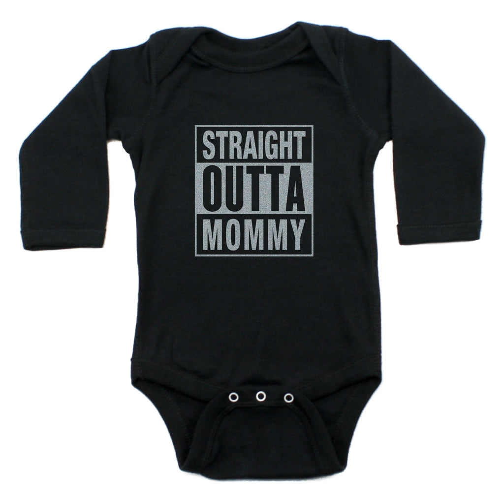 Straight Outta Mommy Bodysuit Long Sleeve Bodysuit