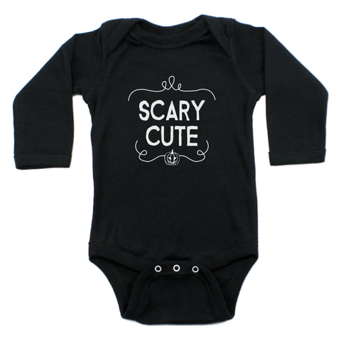 Scary Cute Halloween Long Sleeve Bodysuit