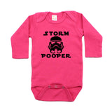 Storm Pooper Long Sleeve 100% Cotton One Piece Baby Bodysuit