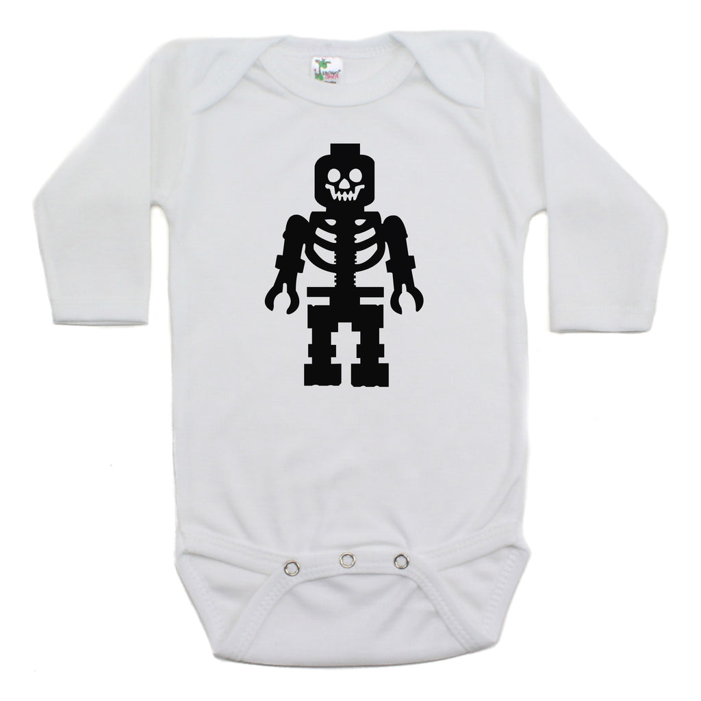 Lego Man Skeleton Long Sleeve Bodysuit