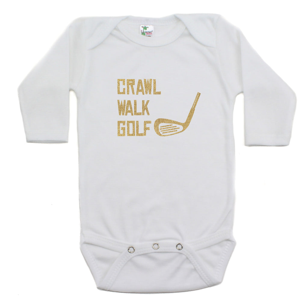 Crawl Walk Golf Bodysuit Long Sleeve Bodysuit